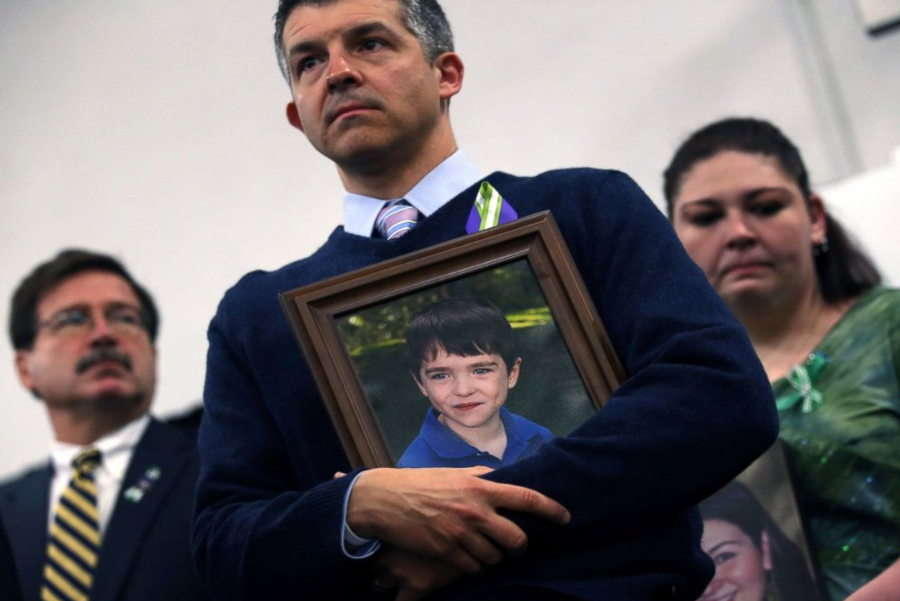 Ian Hockley, father of Dylan Hockley, victim of the Sandy Hook shooting. Image credit: John Moore / Getty Images