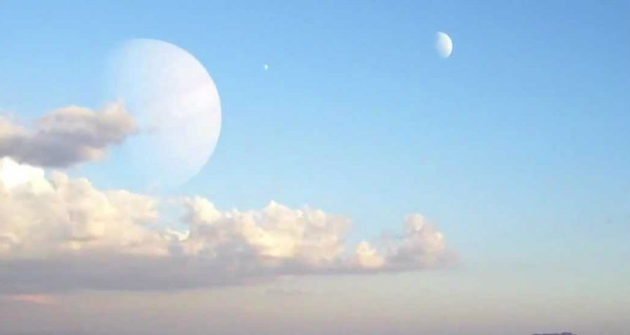 Finding such a large moon at vast distances is not easy. Image credit: Petridishorg Youtube Channel