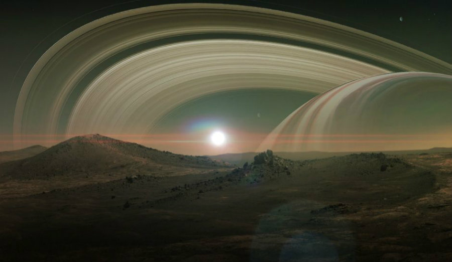 Titan is an incredibly big moon that goes around Saturn. Image credit: Inquisitr