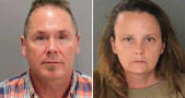 Michael Kellar, 56, and Gail Burnworth, 50, of Tacoma, Washington, were arrested after a passenger spotted Kella's lewd text messages. Image Credit: San Jose Police Department