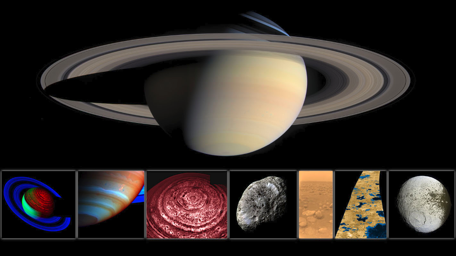 Some pictures captured by Cassini. Image Credit: NASA