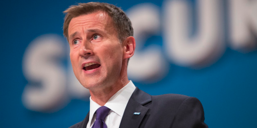 Jeremy Hunt, who has been accused of lying about stroke death rates recorded by the NHS. Source: Huffington Post