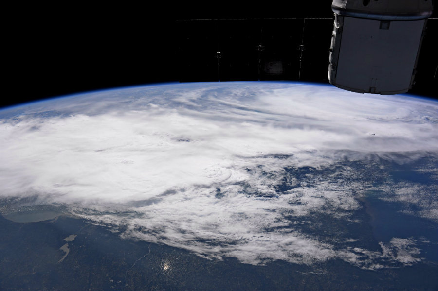 American Astronaut Randy Bresnik has shared his incredible perspective of Hurricane Irma from the International Space Station. Image credit: Randy Bresnik