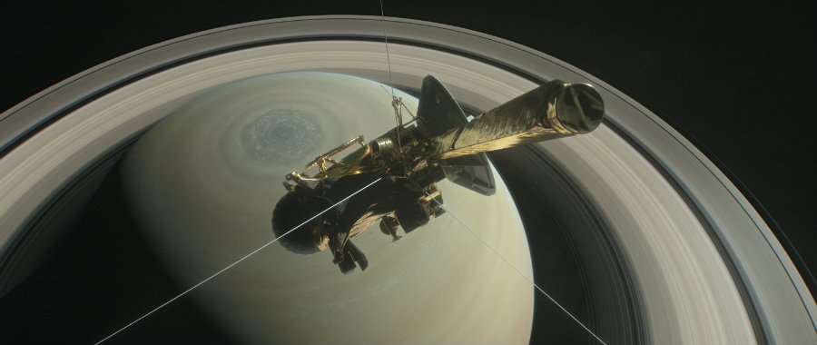 The spacecraft was the first human probe to orbit Saturn. Image credit: NASA