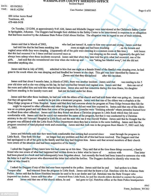 Josh Duggar cionfession