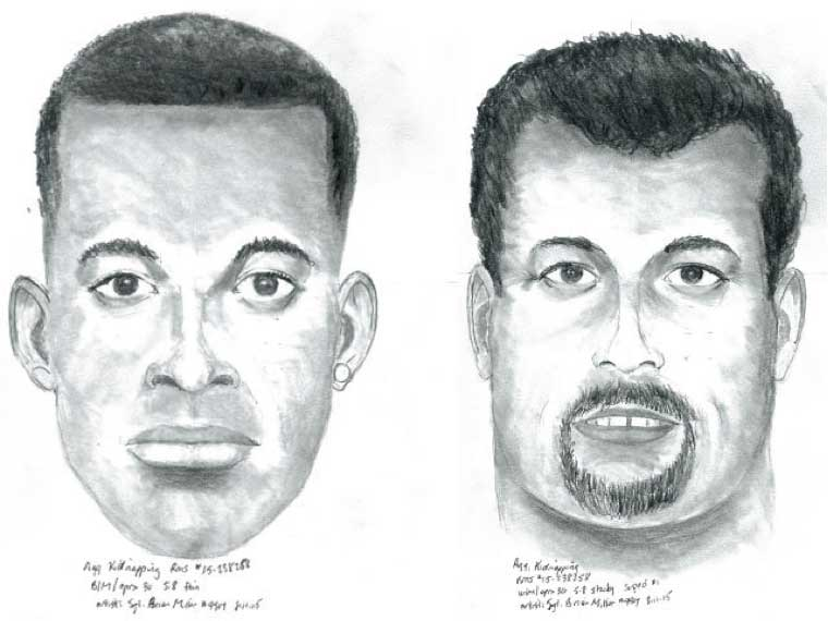 Police release composite sketches of suspects in Aug. 4 kidnapping in the area of 3733 West 134 Street.