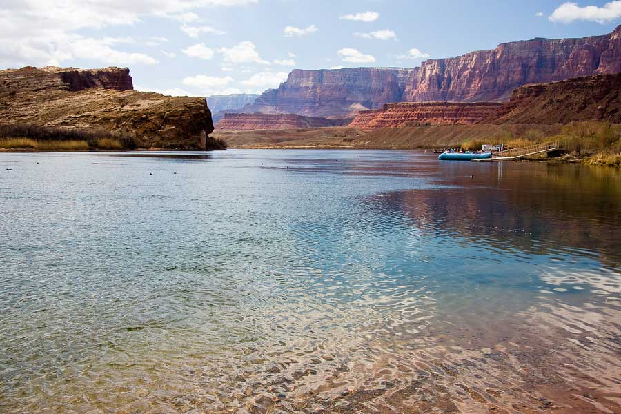 Colorado River at Lees Ferry Crossing is also mile zero of the Grand Canyon
