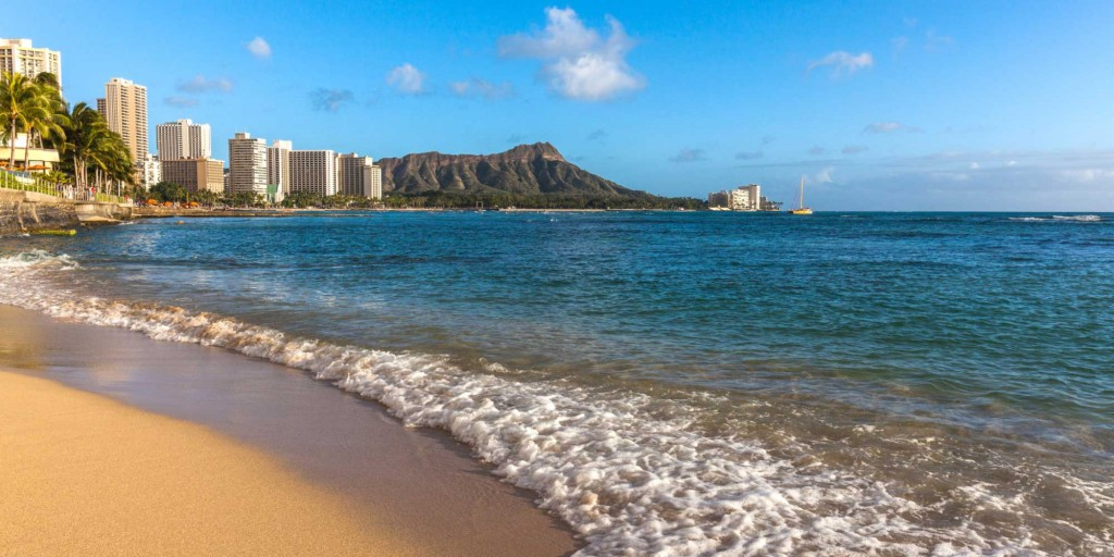 Waikīkī is a beachfront neighborhood of Honolulu, on the south shore of the island of Oʻahu, in Hawaii, United States. Waikiki is best known for Waikīkī Beach, the white sand beach shoreline fronting the neighborhood. Credits  Wikipedia