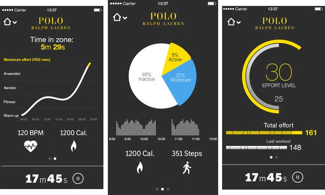 those who wear the shirt can track their workout data with their Apple smartphones or smartwatches. downloading it from the App Store