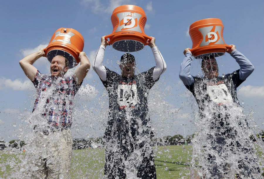 The ice bucket challenge got so popular, TV stars and Movie Stars began to do it as well as renowned athletes. Image Credit: Comedy Wire