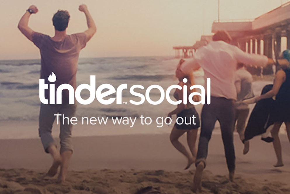 Tinder Social could offer its user a safer way to meet people in comparison with the original Tinder app, given that people are safer in groups. Image Credit: PSFK