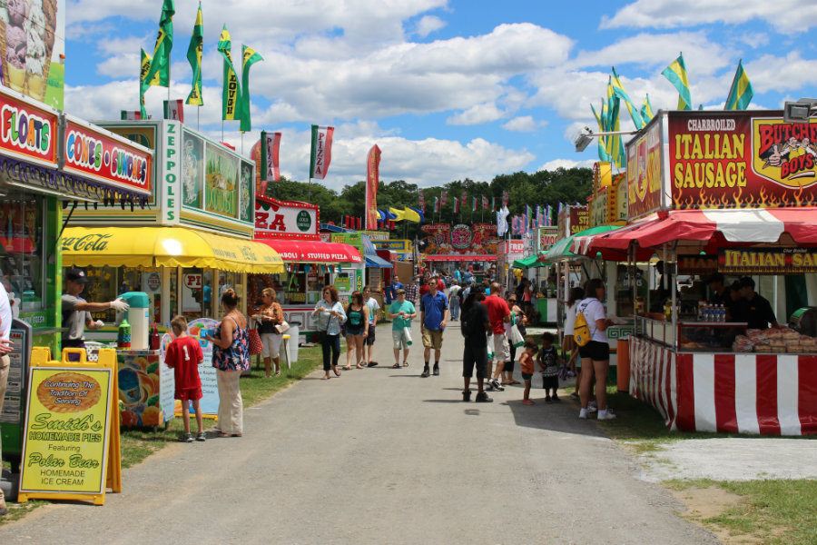 Saratoga's County Fair is not only about horses and racing, but also having a family day filled with fun activities for the children and great food for all. Image Credit: Stewarts Shop