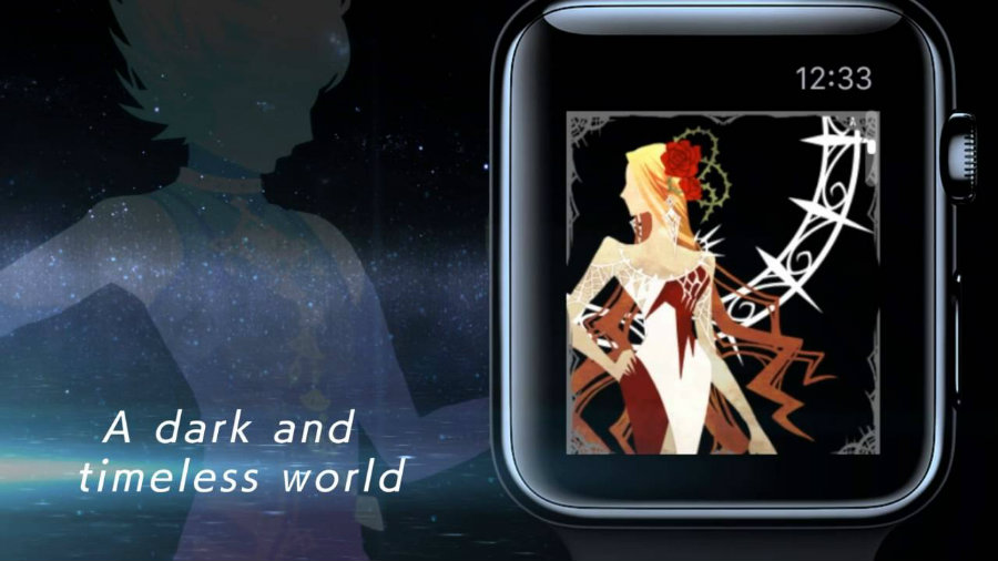 Cosmos rings: the latest Square Enix's Apple Watch exclusive game that continues the Chaos Rings series, that features a God of Time that needs to rescue the Goddess of Time fighting time's cruelty. Photo credit: Square Enix NA