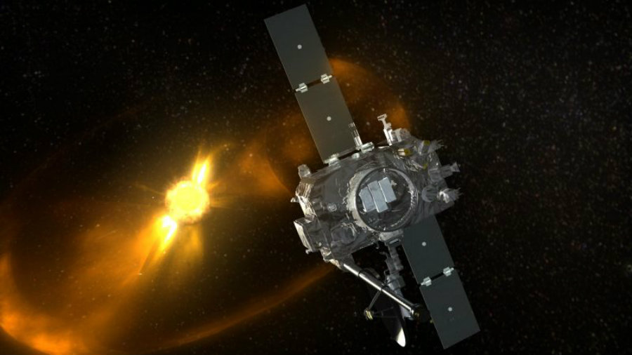The STEREO-B probe had been manufactured to reset after not communicating for 72 hours, so the mission team decided to test the craft's re-boot to see if it would establish communications again. Image Credit: NASA