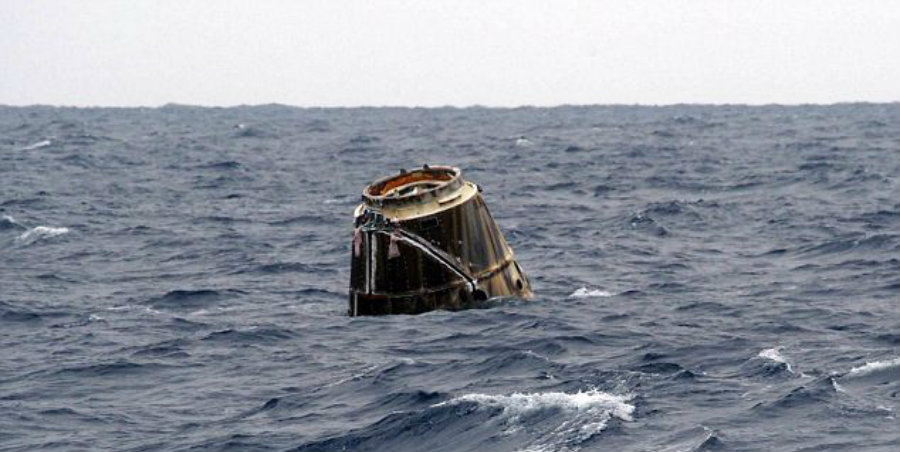 SpaceX's Dragon capsule has returned safely from its trip to the International Space Station. Image Credit: Daily Mail