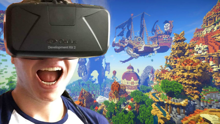 Minecraft Gear VR Gameplay - Immersion Mode. Image Source: YouTube