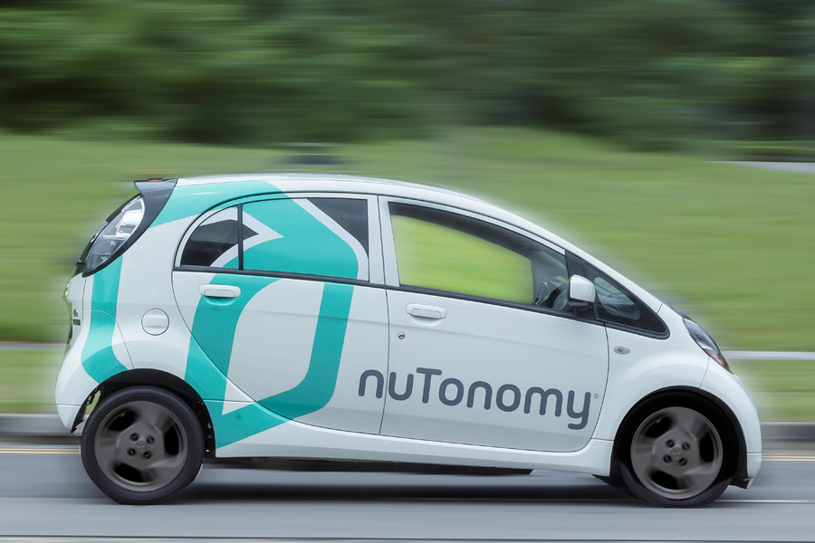 A car being tested using Nutonomy's self-driving car software. Image Credit: Investor Herald