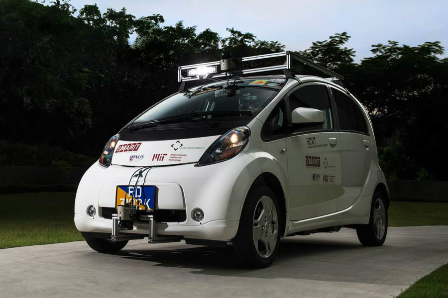An auto render of nuTonomy's prototype for the self-driving taxi deployed in the streets of Singapore more recently. Image Credit: ITU150