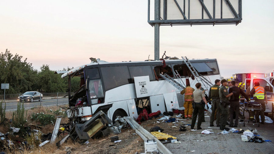 California Highway Patrol (CHP) Officer Moises Onsurez reported that 30 people were on board the vehicle. Image Credit: ABC News