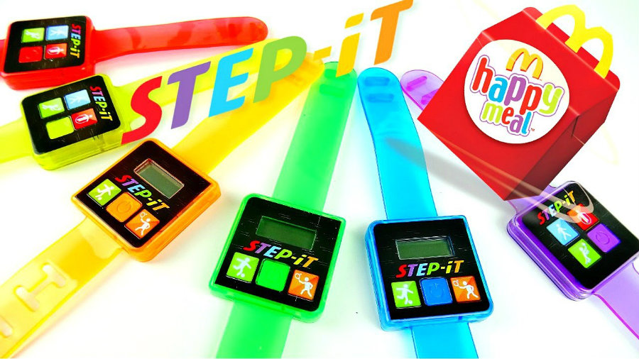McDonald's has decided to discontinue the Step-It Activity trackers introduced in replacement for toys in Happy Meals. Photo credit: Toy Daycare