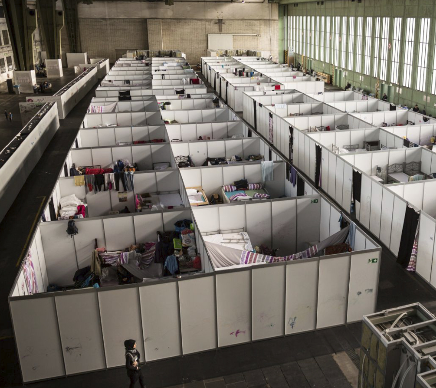 Refugee center in Berlin