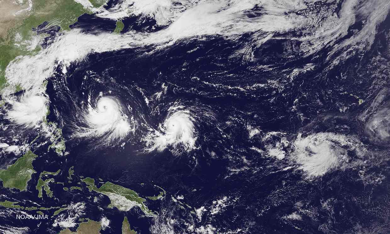 Asian typhoon