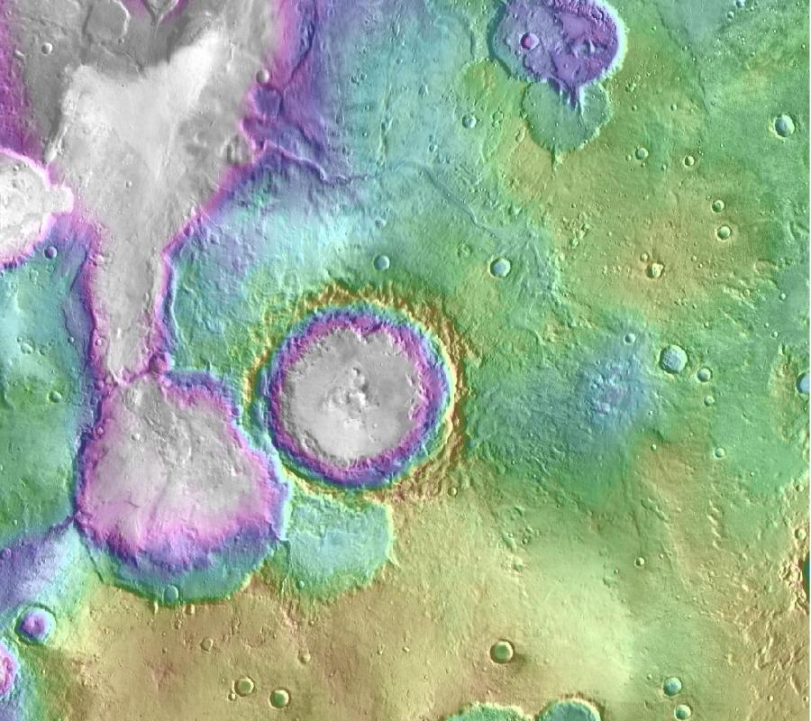 Mars' lakes, NASA