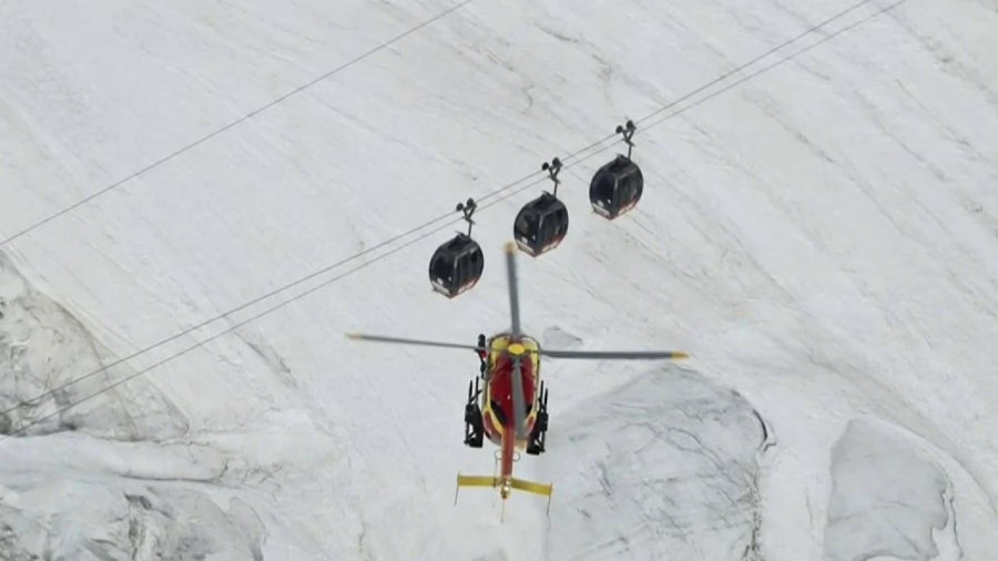 The 33 passengers who found themselves stuck in mid-air at a high altitude overnight in French Alps were all rescued by Friday morning. Photo credit: NBC News