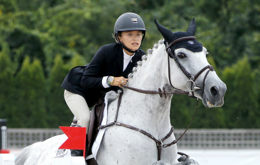 Mary-Kate Olsen was spotted competing this week at the Hampton Classic Horse Show in Bridgehampton. Photo credit: People