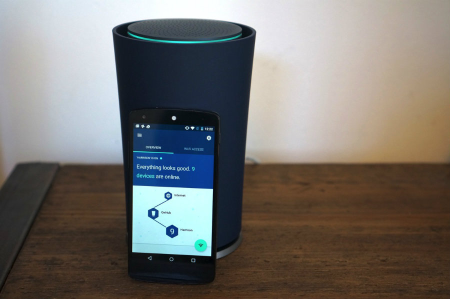 It will be Google's second take on routers after the release of the OnHub model. Photo credit: Engadget