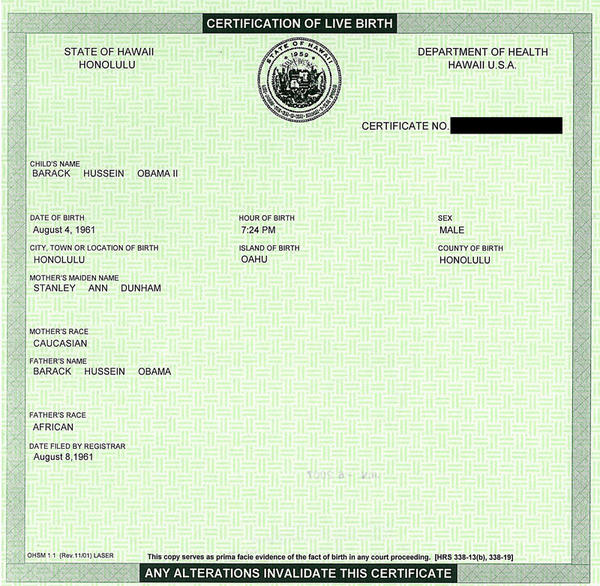 Obama's birth certificate