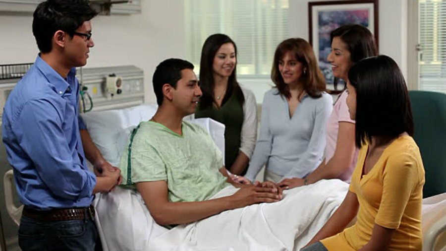 Hispanics tend to bring at least seven people to the medical appointments. Photo credit: Getty Images