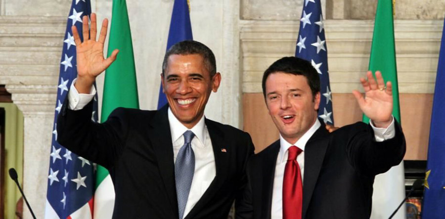 Today, October 18, Barack Obama received the Prime Minister of Italy, Matteo Renzi, in the White House. Photo credit: L'Italo-Americano