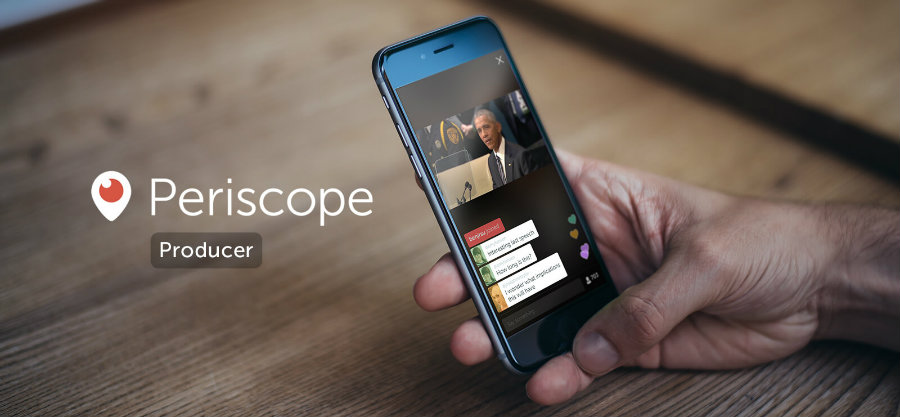 Creators can now generate a URL to stream from professional cameras, satellite trucks, studio editing rigs, VR headsets, drones, OBS, and other desktop streaming software. Photo credit: Periscope / Venture Beat