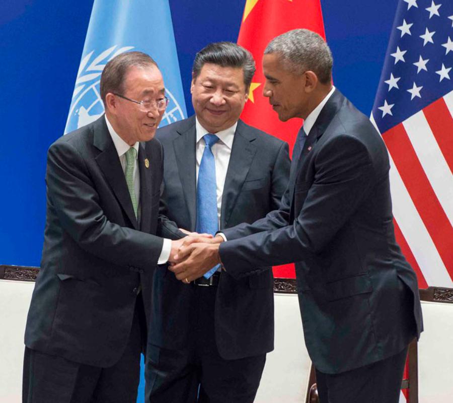 Ban Ki-Moon, Barack Obama