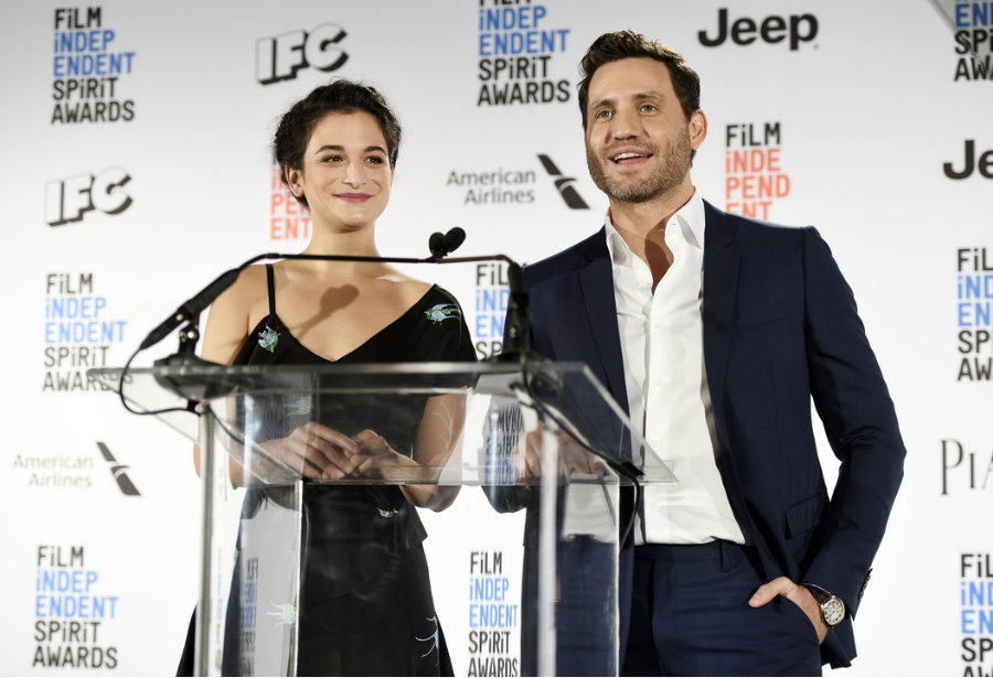 American actress Jenny Slate and Venezuelan actor Edgar Ramirez announced the nominees on Tuesday at the 2017 Independent Spirit Awards. Photo credit: Kiro 7