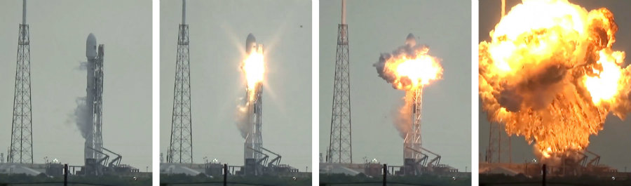 Space X declared that the company found out what caused the explosion on the Falcon 9 on September 1st. Photo credit: US Launch Report / Spaceflight Now