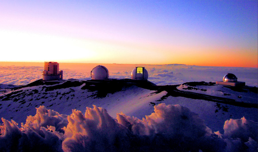 Mauna Kea already hosts 13 telescopes. Photo credit: Wikiwand