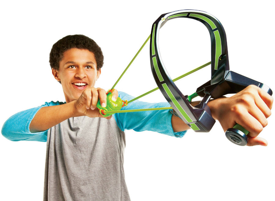 The Slimeball Slinger includes projectiles that can be fired over 30 feet and have the potential to poke a child's eye out. Photo credit: Walmart