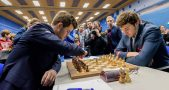 Magnus Carlsen and Sergey Karjakin