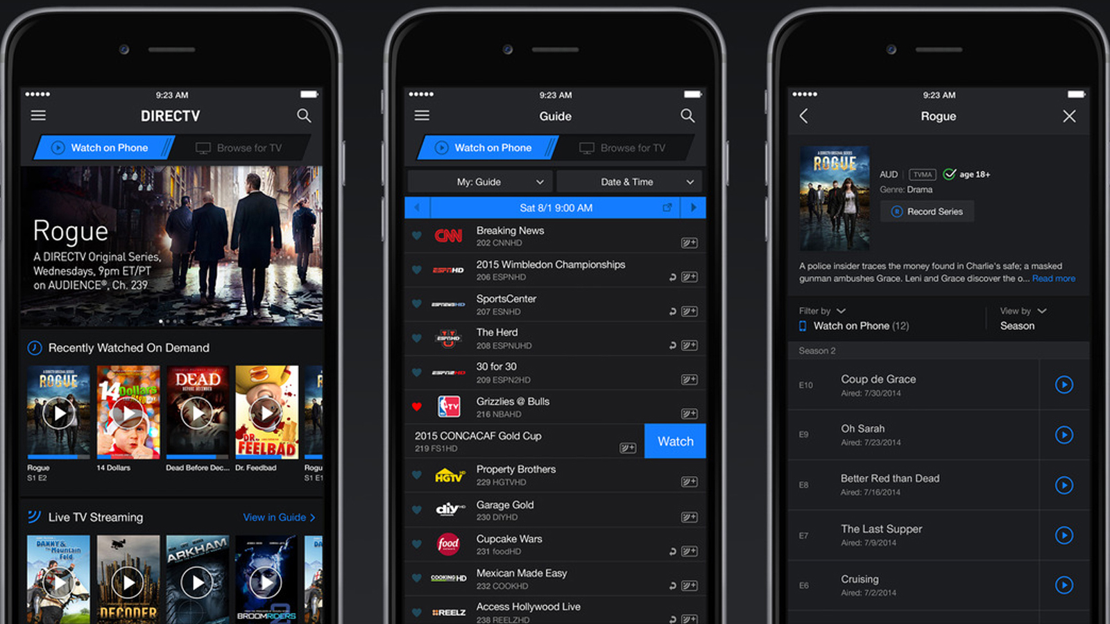 directv app for iphone prices for directv now service free trial available 1841