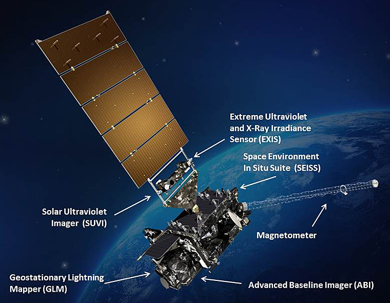 National Oceanic and Atmospheric Administration (NOAA) GOES-R satellite