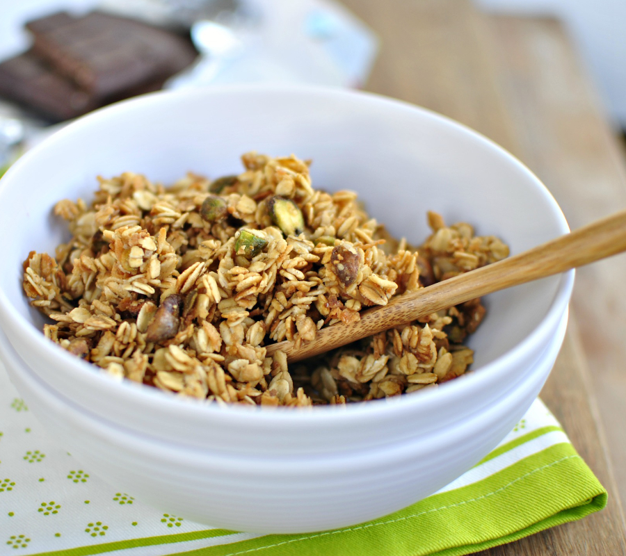 Pistachio and Toasted Coconut Granola Cereal
