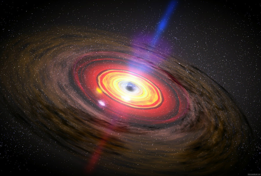Astronomers discovered two supermassive black holes extremely close to the Milky Way. Photo credit: Educatedearth.net