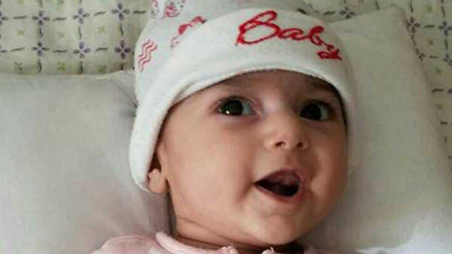 Fatemeh Reshad was diagnosed with a common heart defect present at birth called ventricular septal defect. Image credit: ABC 7 Chicago
