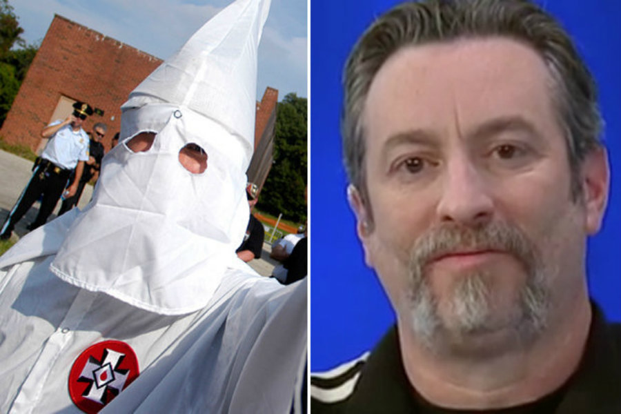 Frank Ancona, a leader of a Missouri Ku Klux Klan, was found dead near a river. Image credit: Getty / MSNBC / Daily Star