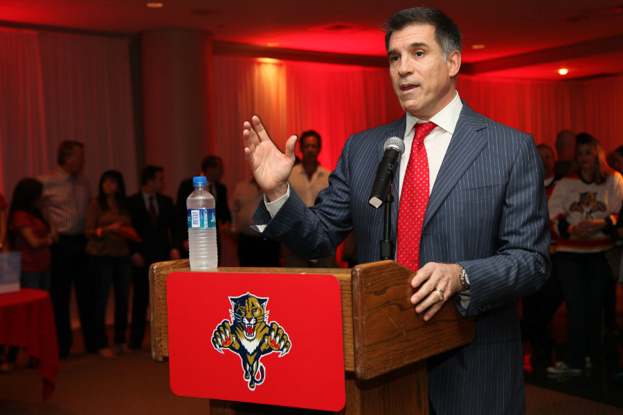 Viola is owner of the Florida Panthers, a National Hockey League team. Image credit: Military Times