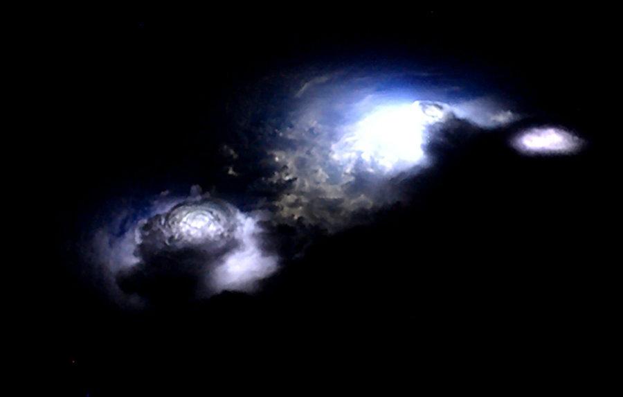 Blue jets. Image credit: O. Chanrion et al. / Geophysical Research Letters; Andreas Mogensen / ESA / NASA / Business Insider