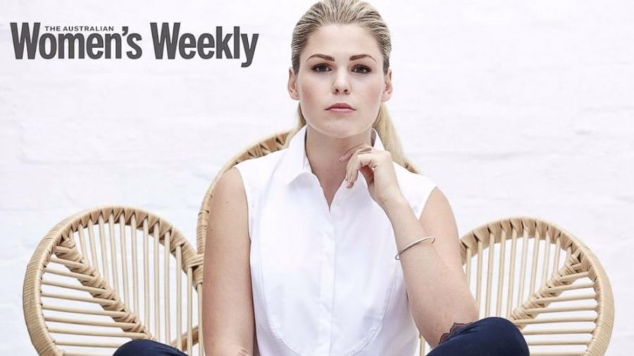 """""""None of it's true,"""" said Belle Gibson to The Australian Women's Weekly magazine. Image credit: ABC News"""