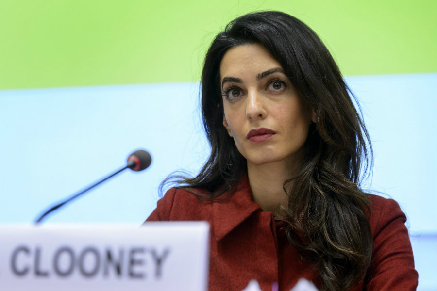 Amal Clooney  represents several victims of ISIS that have been either raped or kidnapped. Image credit: Getty Images / New York Post